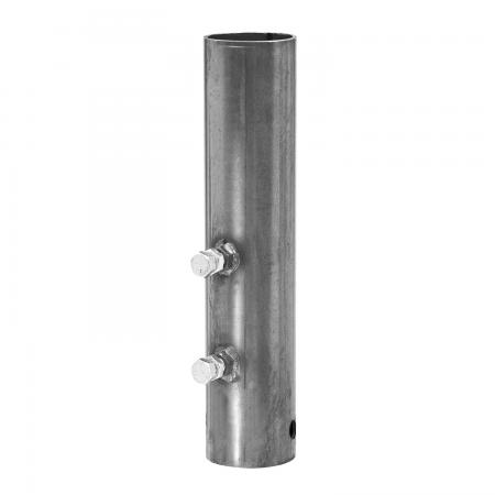 """Bulldog Round Gooseneck Trailer Coupler Outer Tube Sleeve Replacement Adapter Hitch 4-1/2"""" 2 Set Screw 3/4"""" Pin"""