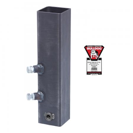 """Bulldog Square Gooseneck Trailer Coupler Outer Tube Sleeve w/Hex Head Bolt Hole Replacement Adapter Hitch 4-1/2"""" 2 Set Screw 3/4"""" Pin"""