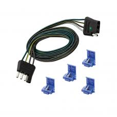 """4-Flat Wiring Harness Tow Plug Kit Plug Loop, 60"""" Long (Includes 4 Wire Taps)"""