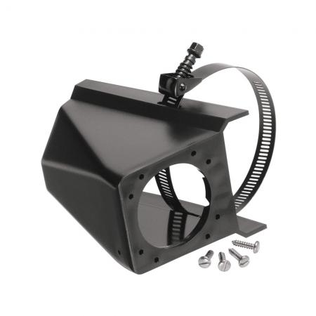 """6 & 7-Way RV Round Tow Plug Harness Connector Mounting Box, 3"""" Crosstubes"""