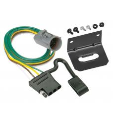 Trailer Wiring and Bracket For 95-01 Ford Explorer 98-99 Ranger w/Factory Tow Package 4-Flat Harness Plug Play