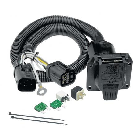 7-Way RV Trailer Wiring Harness Kit For 97-03 F-150 04 Heritage 97-99 F-250 w/Factory 4-Flat