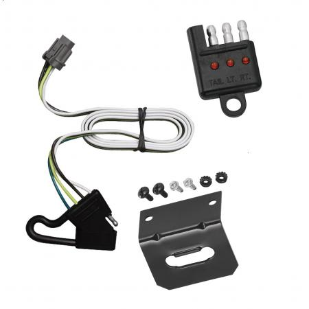 Trailer Wiring and Bracket and Light Tester For 00-04 Nissan Xterra w/Factory Tow Package 4-Flat Harness Plug Play