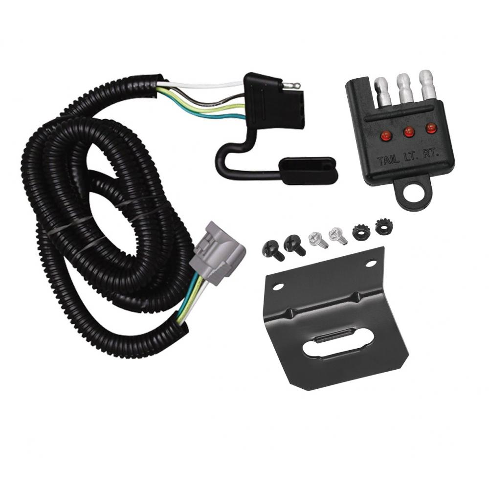 [DIAGRAM_3US]  Trailer Wiring and Bracket and Light Tester For 01-03 Lexus RX300 Toyota  Highlander 01-02 4Runner Land Cruiser 01-07 LX470 08-11 LX570 4-Flat Harness  Plug Play | 2002 Toyota Highlander Trailer Wiring Harness |  | TrailerJacks.com