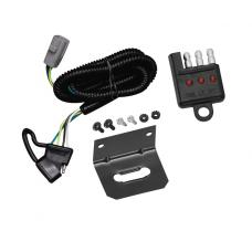 Trailer Wiring and Bracket and Light Tester For 01-02 Toyota Sequoia All Styles 4-Flat Harness Plug Play