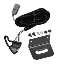 Trailer Wiring and Bracket For 01-02 Toyota Sequoia All Styles 4-Flat Harness Plug Play