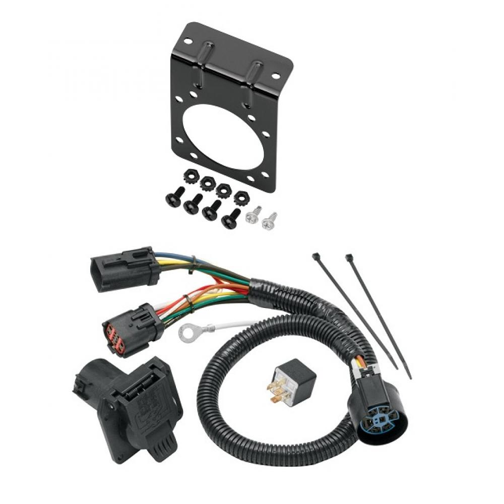 7 way rv trailer wiring harness w mounting bracket for. Black Bedroom Furniture Sets. Home Design Ideas