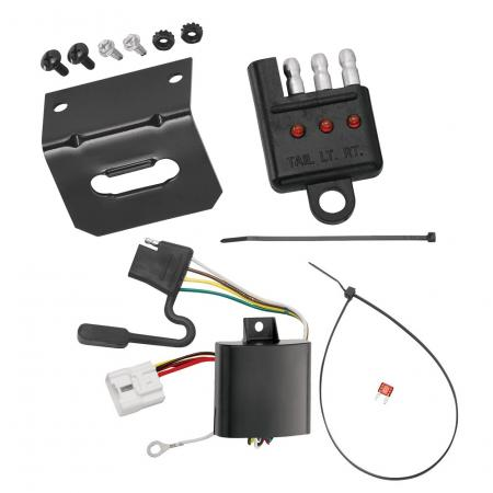Trailer Wiring and Bracket and Light Tester For 04-07 Toyota Highlander All Styles 4-Flat Harness Plug Play