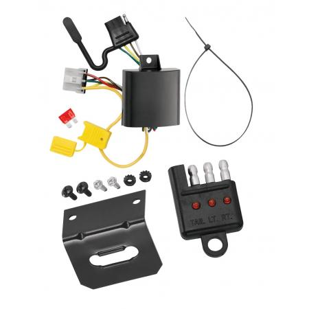 Trailer Wiring and Bracket and Light Tester For 07-12 Mazda CX-7 w/Factory Tow Package 4-Flat Harness Plug Play