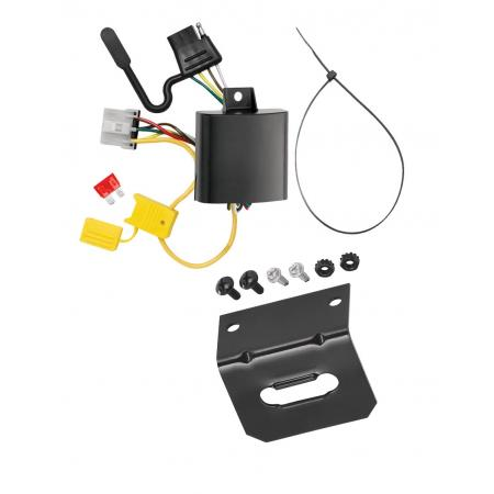 Trailer Wiring and Bracket For 07-12 Mazda CX-7 w/Factory Tow Package 4-Flat Harness Plug Play