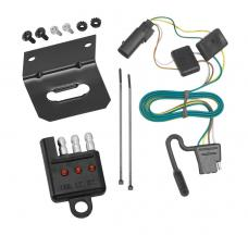 Trailer Wiring and Bracket and Light Tester For 08-12 Ford Escape 08-11 Mazda Tribute Mariner 4-Flat Harness Plug Play