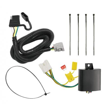 Trailer Wiring Harness Kit For 10-19 RX350 10-18 RX450h Hybrid 2018 RX350L without Factory Tow Package