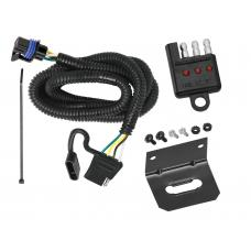 Trailer Wiring and Bracket and Light Tester For 10-16 Cadillac SRX w/Factory Tow Package 4-Flat Harness Plug Play