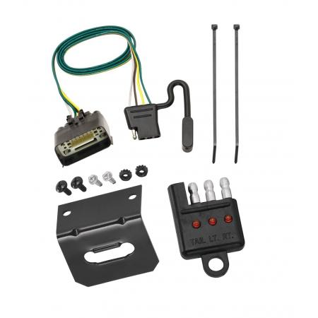 Trailer Wiring and Bracket and Light Tester For 09-12 Ford Econoline E-150 E-250 E-350 Super Duty Prepped Class I Towing Package 4-Flat Harness Plug Play