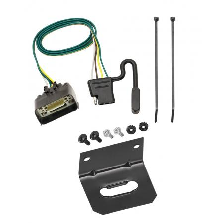 Trailer Wiring and Bracket For 09-12 Ford Econoline E-150 E-250 E-350 Super Duty Prepped Class I Towing Package 4-Flat Harness Plug Play