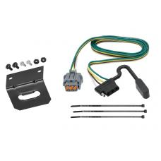 Trailer Wiring and Bracket For 05-17 Nissan Frontier 05-07 Pathfinder 05-15 Xterra 09-12 Equator 4-Flat Harness Plug Play