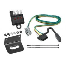 Trailer Wiring and Bracket and Light Tester For 10-17 Chevy Equinox GMC Terrain w/Factory Tow Package 4-Flat Harness Plug Play