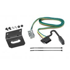 Trailer Wiring and Bracket For 10-17 Chevy Equinox GMC Terrain w/Factory Tow Package 4-Flat Harness Plug Play