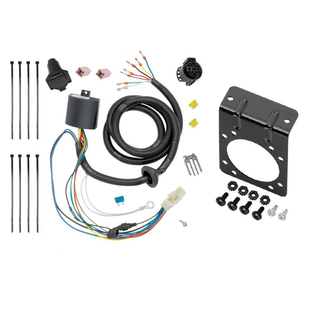 [EQHS_1162]  7-Way RV Trailer Wiring Harness w/ Mounting Bracket For 16-20 Honda Pilot  All Styles | 7 Way Wire Harness |  | TrailerJacks.com