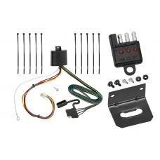 Trailer Wiring and Bracket and Light Tester For 16-19 Mazda CX-9 w/Factory Tow Package 4-Flat Harness Plug Play