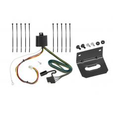Trailer Wiring and Bracket For 16-19 Mazda CX-9 w/Factory Tow Package 4-Flat Harness Plug Play