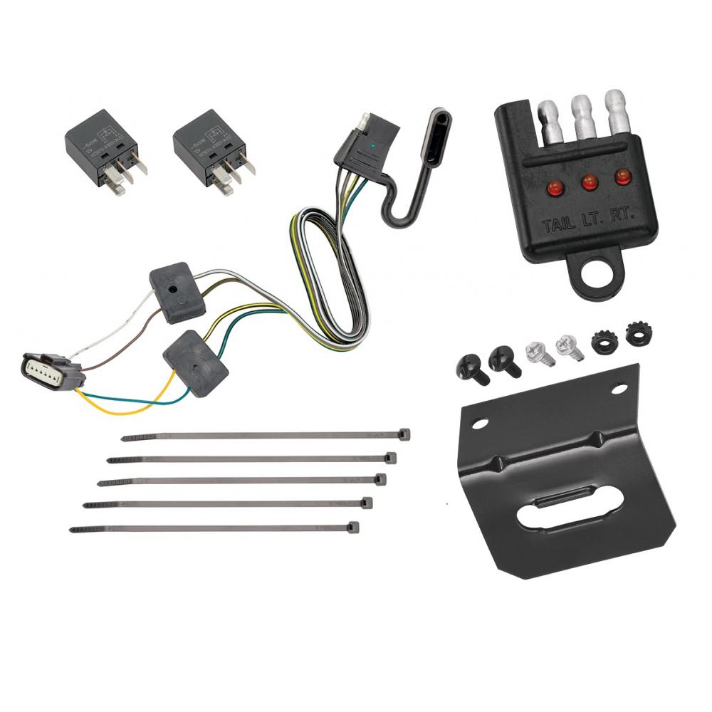Trailer Wiring and Bracket and Light Tester For 18-20 ...