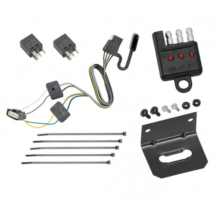 Trailer Wiring and Bracket and Light Tester For 18-20 Chevy Equinox GMC Terrain w/ Tow Prep Package 4-Flat Harness Plug Play