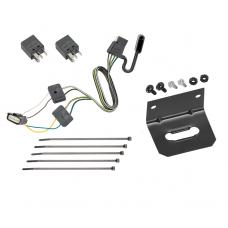 Trailer Wiring and Bracket For 18-20 Chevy Equinox GMC Terrain w/ Tow Prep Package 4-Flat Harness Plug Play