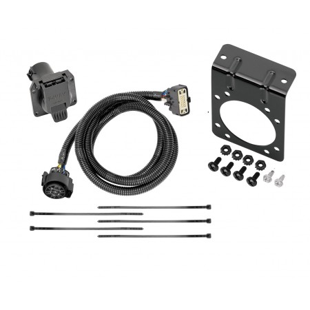 7-Way RV Trailer Wiring Harness w/ Mounting Bracket For 18-19 Buick Enclave 18-20 Chevy Traverse