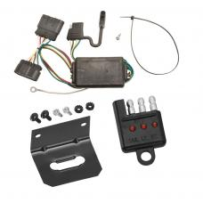 Trailer Wiring and Bracket and Light Tester For 04-12 Chevy Colorado GMC Canyon 06-08 Isuzu i-280 i-290 i-350 i-370 4-Flat Harness Plug Play