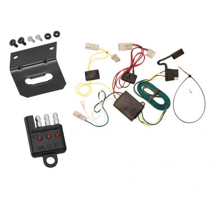 Trailer Wiring and Bracket and Light Tester For 06-08 Acura TSX 03-07 Honda Accord 4 Dr. Sedan 4-Flat Harness Plug Play
