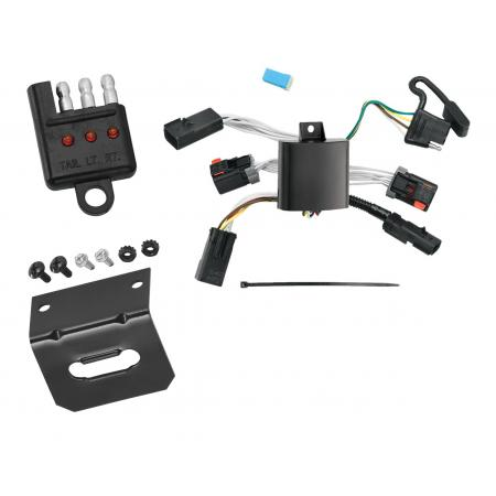 Trailer Wiring and Bracket and Light Tester For 04-08 Chrysler Pacifica All Styles 4-Flat Harness Plug Play