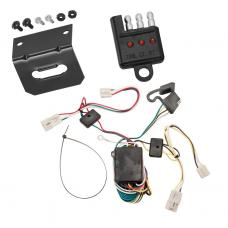 Trailer Wiring and Bracket and Light Tester For 04-10 Toyota Sienna All Styles Plug and Play 4-Flat Harness Plug Play