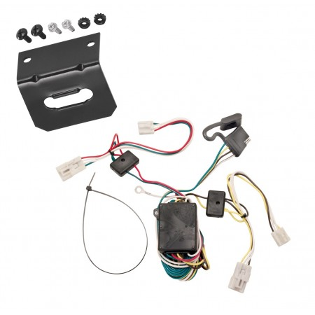 Trailer Wiring and Bracket For 04-10 Toyota Sienna All Styles Plug and Play 4-Flat Harness Plug Play