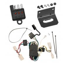 Trailer Wiring and Bracket and Light Tester For 03-06 Mitsubishi Outlander All Styles 4-Flat Harness Plug Play