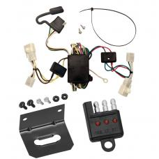 Trailer Wiring and Bracket and Light Tester For 02-06 Toyota Camry 4 Dr. Sedan 4-Flat Harness Plug Play