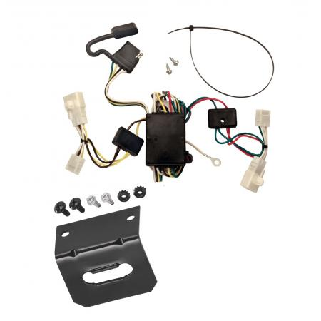 Trailer Wiring and Bracket For 02-06 Toyota Camry 4 Dr. Sedan 4-Flat Harness Plug Play