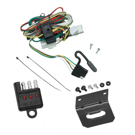 Trailer Wiring and Bracket and Light Tester For 02-05 KIA Sedona All Styles Plug and Play 4-Flat Harness Plug Play