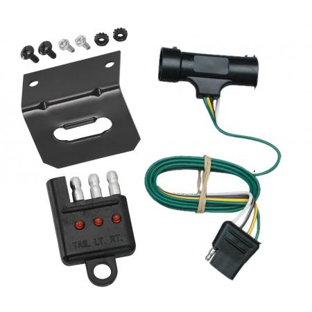 Trailer Wiring and Bracket and Light Tester For 73-84 Chevy Blazer Suburban GMC Jimmy C/K Pickup 4-Flat Harness Plug Play