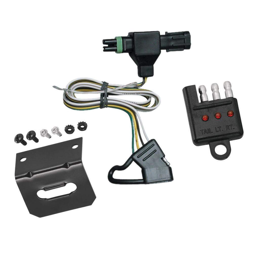[WLLP_2054]   Trailer Wiring and Bracket and Light Tester For 85-91 Chevy Blazer Suburban  GMC Jimmy C/K Pickup 91-97 Sonoma 4-Flat Harness Plug Play | Chevy Truck Trailer Wiring Harness |  | TrailerJacks.com