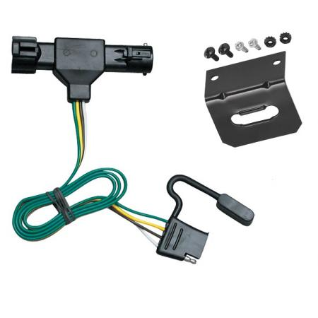 Trailer Wiring and Bracket For 86-92 Ford Ranger All Styles 4-Flat Harness Plug Play