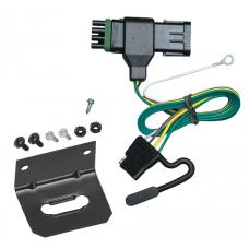 Trailer Wiring and Bracket For 88-00 Chevy GMC C/K 1500 2500 3500, Except 88-91 Crew Cab 4-Flat Harness Plug Play
