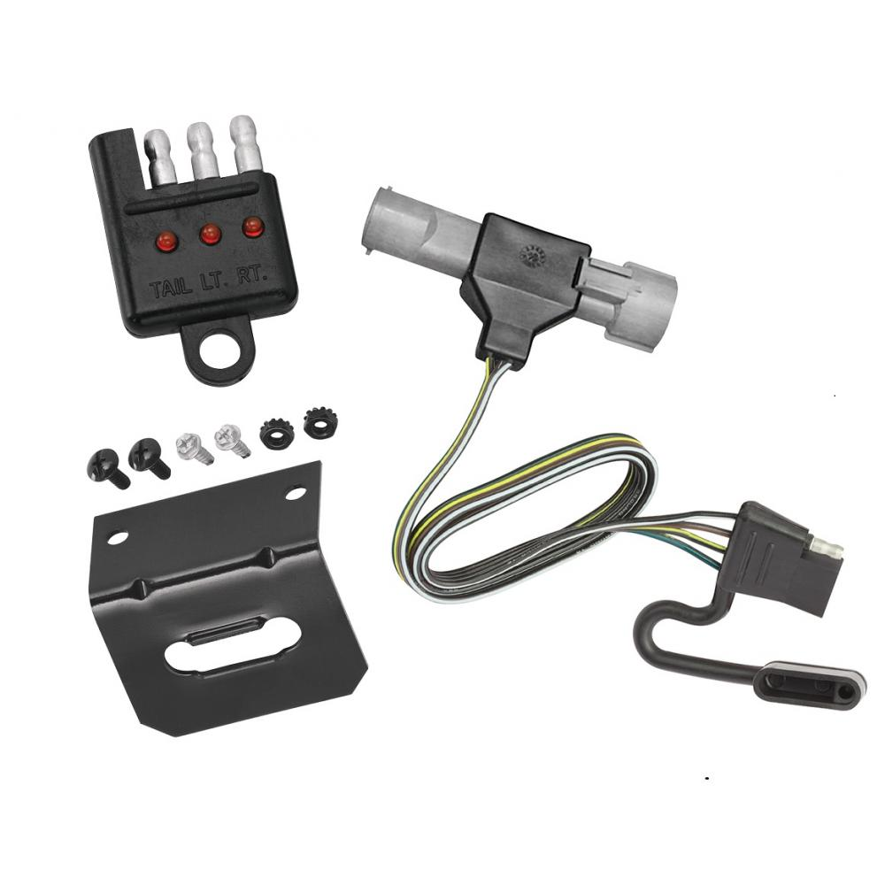 trailer wiring and bracket and light tester for 87-96 ford f-150 f-250