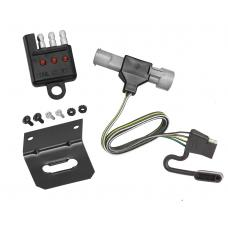 Trailer Wiring and Bracket and Light Tester For 87-96 Ford F-150 F-250 F-350 (1997 Heavy Duty) 4-Flat Harness Plug Play