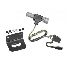 Trailer Wiring and Bracket For 87-96 Ford F-150 F-250 F-350 (1997 Heavy Duty) 4-Flat Harness Plug Play