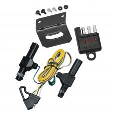 Trailer Wiring and Bracket and Light Tester For 86-93 Dodge D/W 150 250 350 Ramcharger Dakota 94-02 Ram 3500 1994 Ram 1500 2500 4-Flat Harness Plug Play