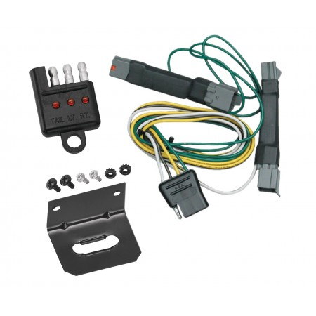 Trailer Wiring and Bracket and Light Tester For 92-97 Ford Crown Victoria Mercury Grand Marquis 94-04 Ford Mustang Except Cobra SVT 4-Flat Harness Plug Play