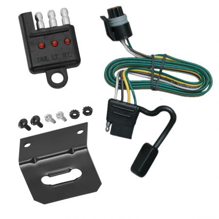 Trailer Wiring and Bracket and Light Tester For 93-98 Dodge B-Series Van All Styles 4-Flat Harness Plug Play