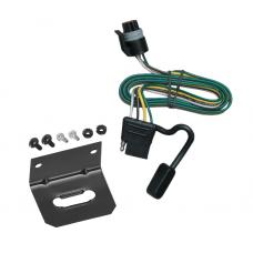 Trailer Wiring and Bracket For 93-98 Dodge B-Series Van All Styles 4-Flat Harness Plug Play