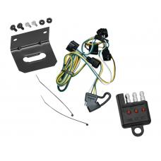 Trailer Wiring and Bracket and Light Tester For 95-03 Dakota 95-02 Dodge Ram 1500 2500 3500 4000 4-Flat Harness Plug Play